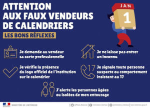 ATTENTION : Faux vendeurs de calendrier