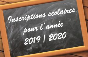 Inscription écoles maternelles 2019-2020