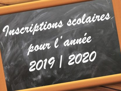 Inscription école élementaire 2019-2020