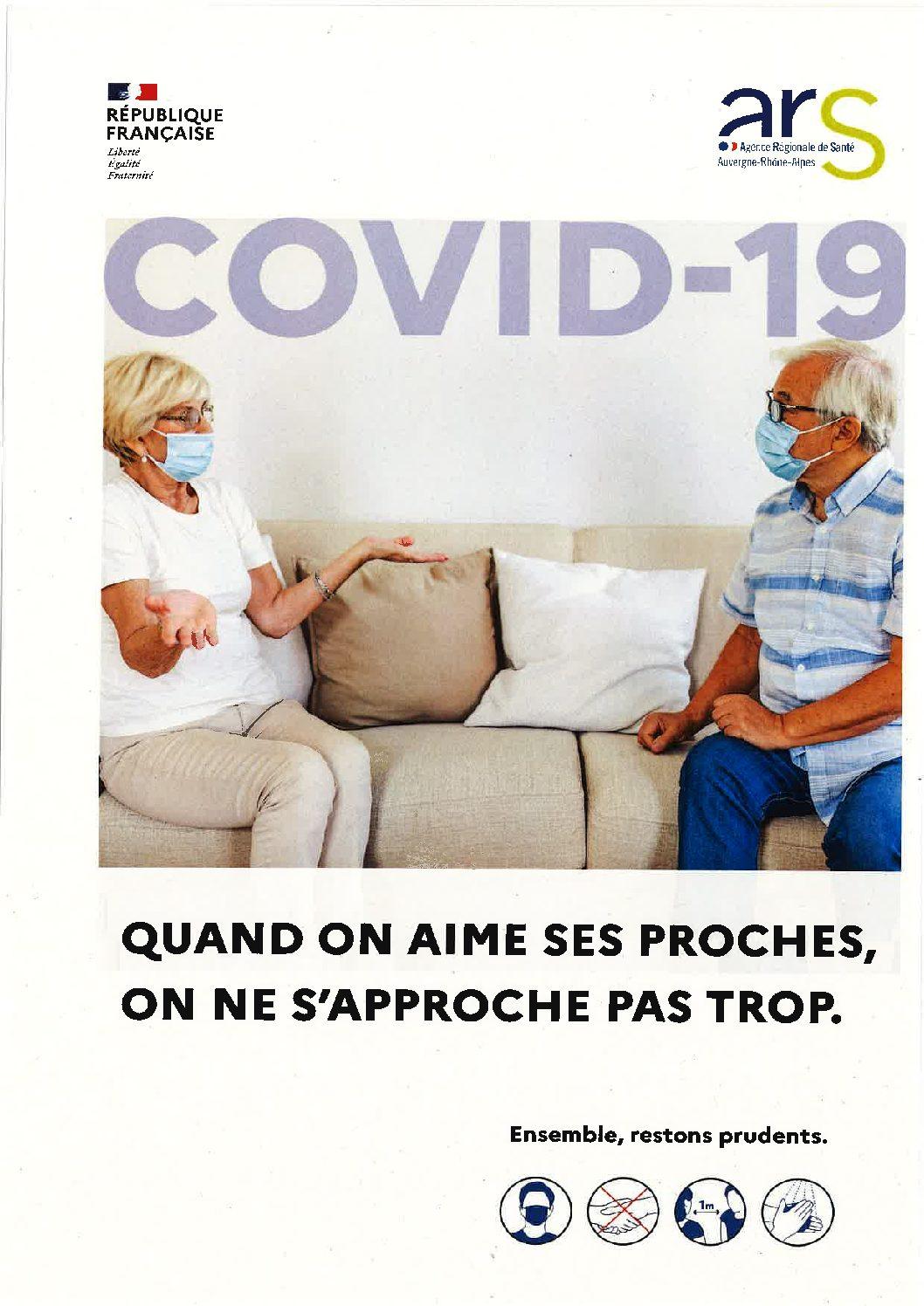 COVID-19 : Message de maintien de vigilance